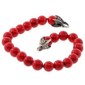 David Yurman Spiritual Red Carnelian Bead Bracelet